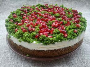 Domowa Cukierenka - Domowa Kuchnia: leśny mech- ciasto ze szpinakiem i granatem