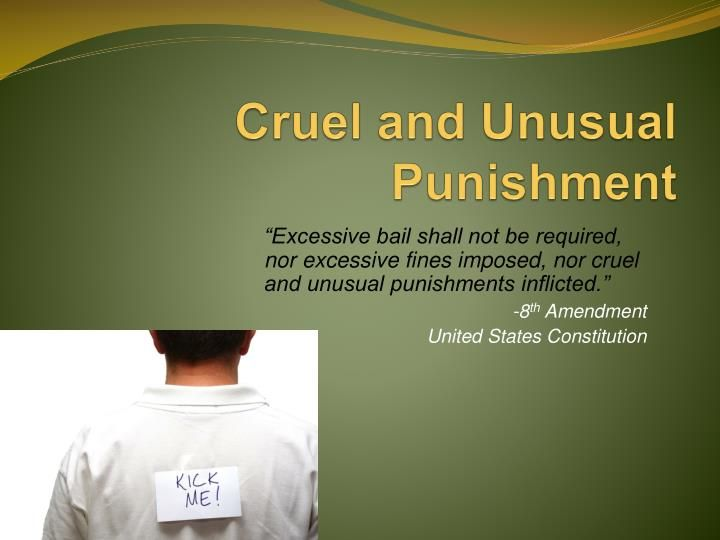 death penalty cruel and unusual + includes 2 states that no longer have an active death penalty 2001, the georgia supreme court held that the electric chair was cruel and unusual punishment.