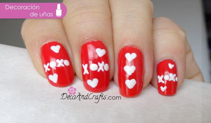 Valentine 39 s day nails el material y paso a paso en http for Disenos de unas sencillos