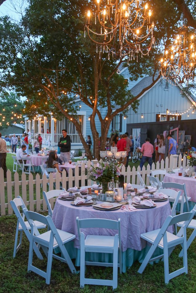 String Lights Outdoor Party Graduation Shower