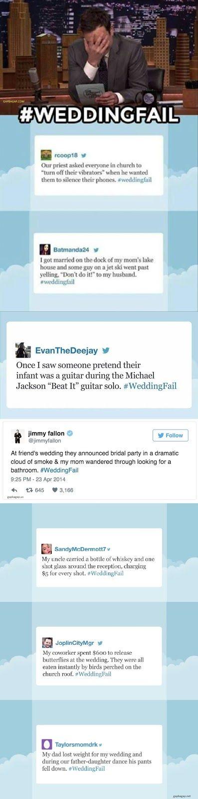 Funny Tweets About #WeddingFail By Jimmy Fallon