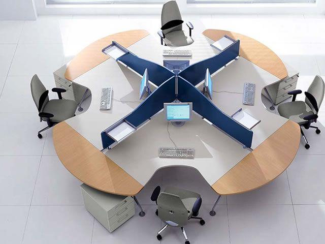 #Desks #office #collaborate Great idea for www.sdOfficeDesign.com