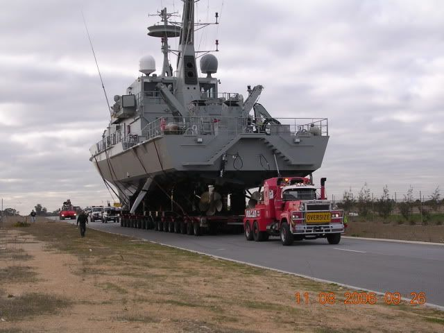 LIKE Progressive Truck Driving School: www.facebook.com/... #trucking #truck #driver  HMAS Wollongong on her way to being launched.