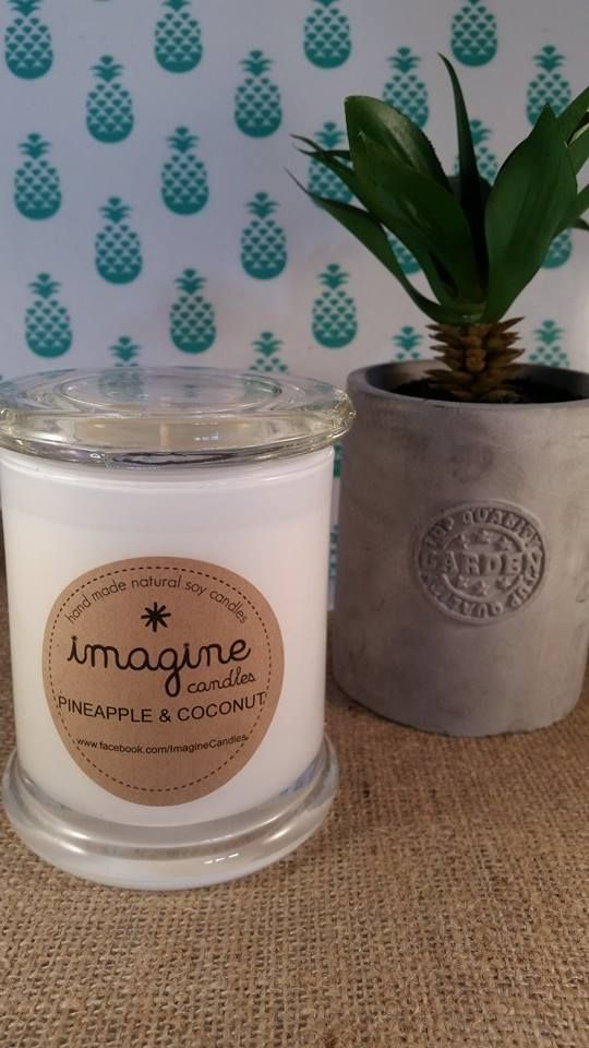 Thanks to Shannon for sharing this funky, cute pic of her soy wax candle creation, scented with Pineapple & Coconut fragrance oil.