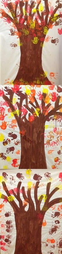 Arbres de mans Material: paper, pintura Nivell: Infantil 2014/15 Escola Pia Balmes