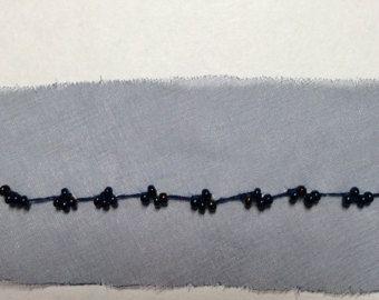 Artículos similares a Adorno de negro, negro de la cinta, negro ajuste moldeado, cinta Vintage, decoración boda, cinta decorativa (5-015) en Etsy