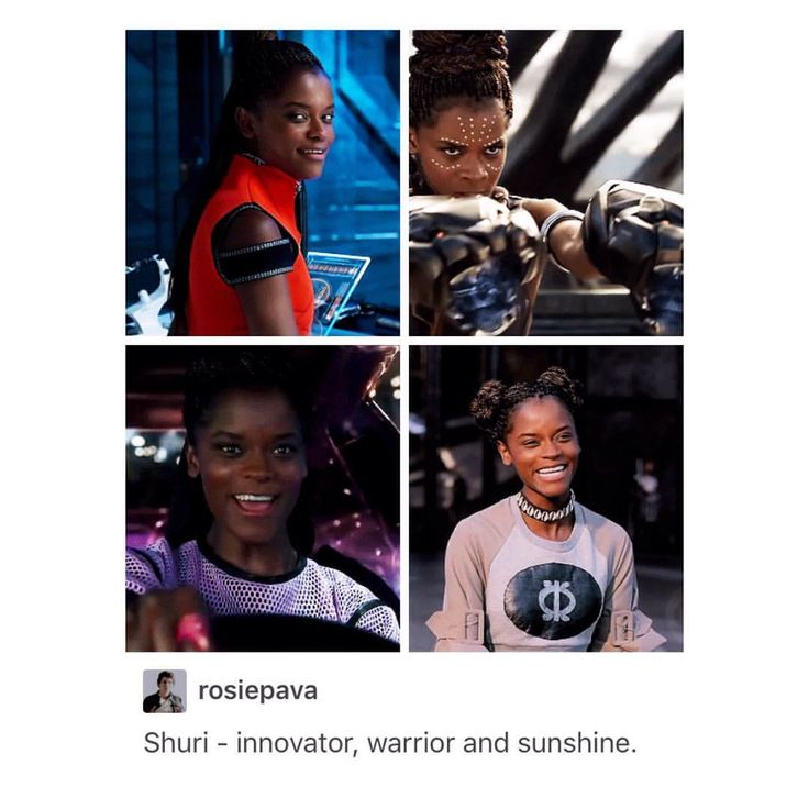 "Instagram: ""shuri: *does literally anything* me: ✨❤️⭐️"""