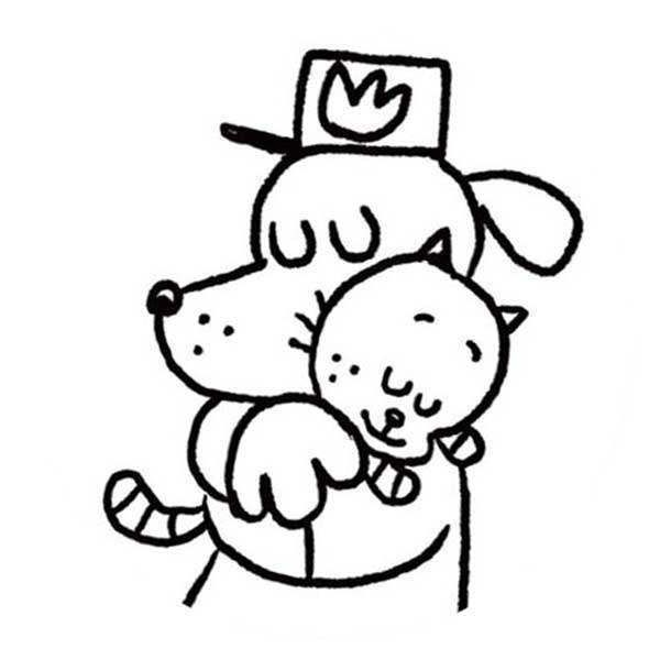 Dog Man Colouring In Sheets Designs Collections