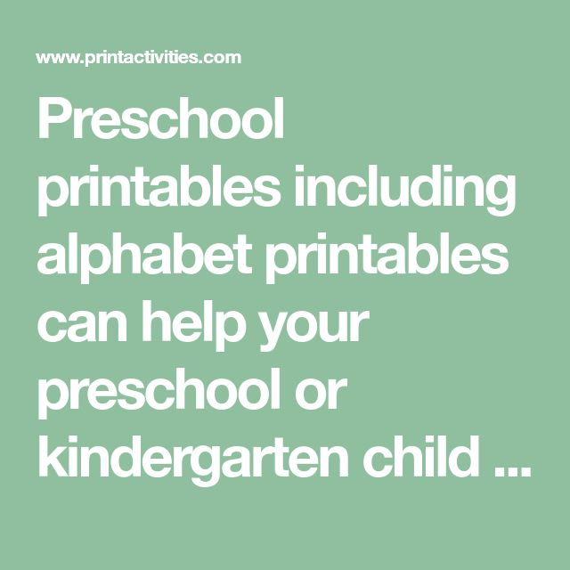 Preschool printables including alphabet printables can help your preschool or kindergarten child learn to print by tracing alphabet letters, tracing numbers, name tracing and tracing shapes.