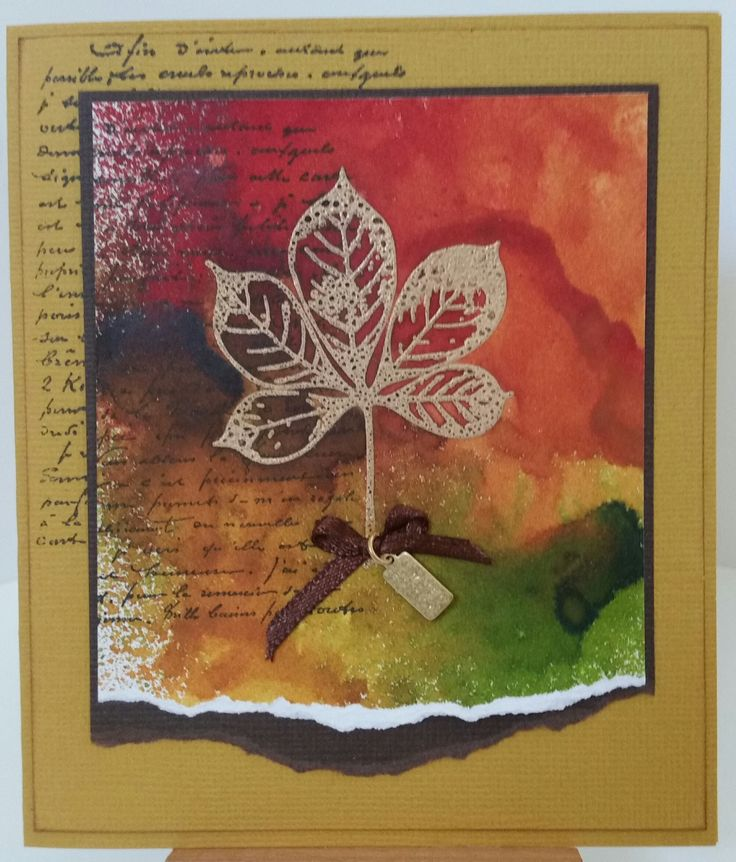 """""""Falling Leaves"""" 12105154 by Bo Bunny;  """"Wording Background"""" 2183F by Stamp-it. Card by Susan of Art Attic Studio"""