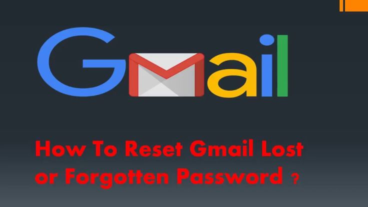 How to reset gmail lost or forgotten password?