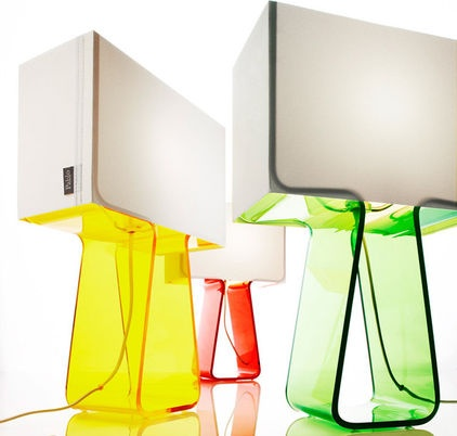Tube Top Color Lamp - $110.00»  These acrylic lamps have got the glow.