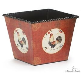 Country Rooster Planter  Chicken Garden Decorations: Presents For Chicken  Lovers