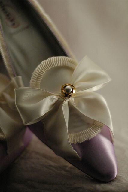 Lavender & Ivory Marie Antoinette Shoes