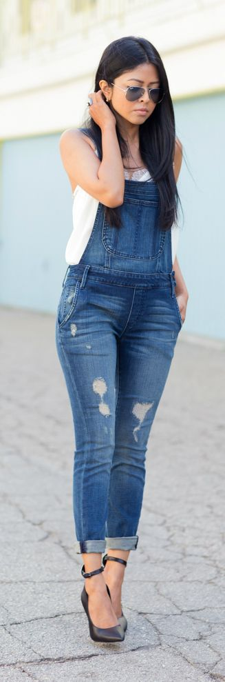 OVERALLIN' OVER THE WEEKEND by Walk In Wonderland.  Normally hate overalls but these are cute.