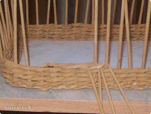 Мастер-класс Плетение Кромка розга Бумага газетная фото 7