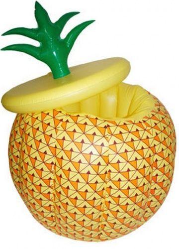 Secchiello per ghiaccio gonfiabile a forma di ananas: un'idea bella e originale per mettere al fresco le tue bibite in occasione di una divertente festa in spiaggia!