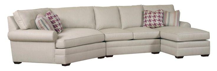 Custom Select Upholstery 3 Pc Custom Built Sectional Sofa by Kincaid Furniture