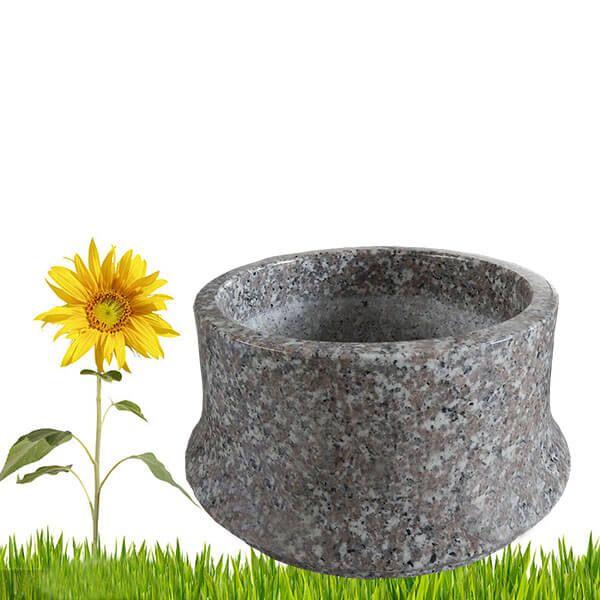 Pot De Fleurs De Cimetiere De Granit Gris Vases Funeraires
