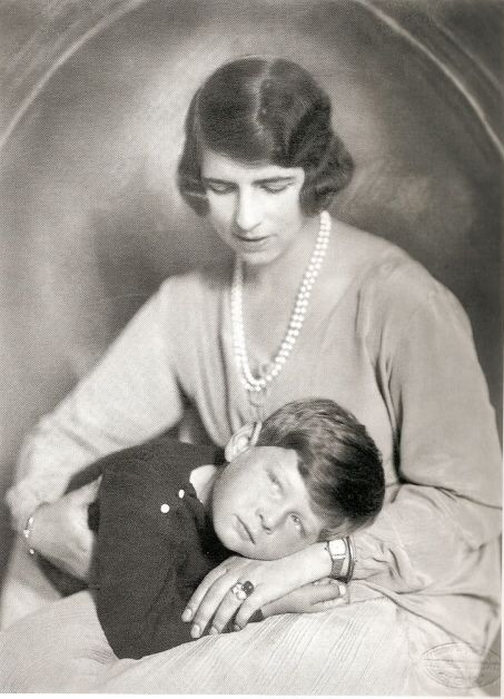 Queen Helen and Prince Mihai of Romani