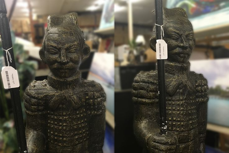 This rustic, oriental style soldier statue is going under the hammer TOMORROW at 2:00 pm!   Browse through more decorative pieces for the home and garden and bid online NOW