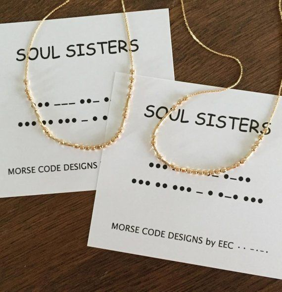 91ab2e0c7539f Morse Code SOUL SISTERS ANKLETS Customize Morse Code Anklet Beach ...