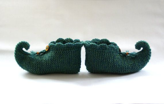 Knitting Pattern For Elf Slippers : knitted slipper socks, pixie slippers, elf slippers ...