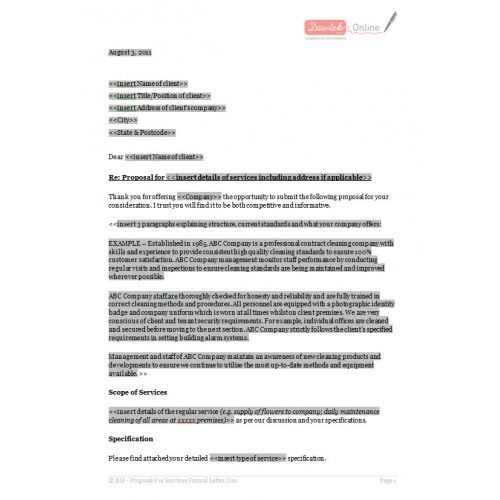 26 best Informal proposal images on Pinterest Proposal templates - proposal email format