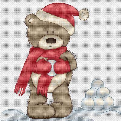 Snowballing Bruno Cross Stitch Kit By Luca S