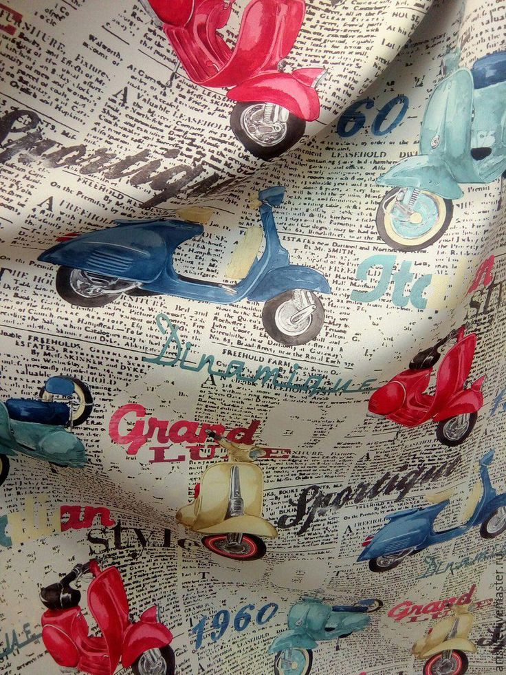 Купить Портьерная ткань 335585 газетный принт - чёрно-белый, розовый голубой бежевый
