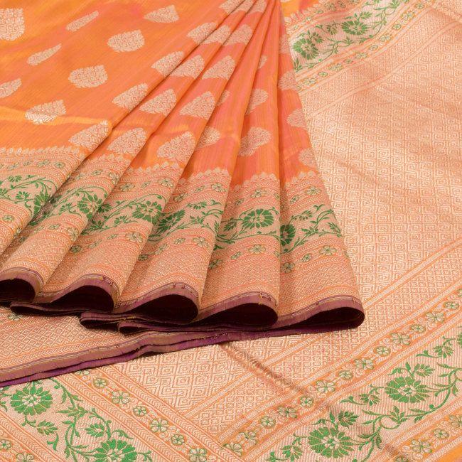 Shivangi Kasliwaal Handwoven Banarasi Kadhwa Katan Silk Saree with Brocade…
