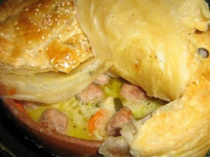 Placinta de pui cu praz si foietaj (retete Jamie) - Culinar.ro