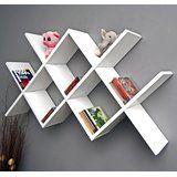 Zigzag Caro Retro Design Lounge Shelve Shelf in white and black.: Amazon.co.uk: Kitchen & Home