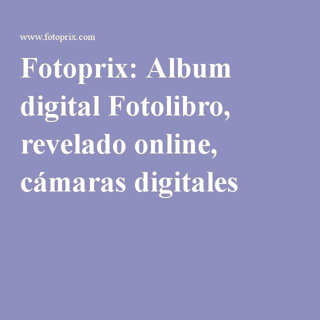 Fotoprix: Album digital Fotolibro, revelado online, cámaras digitales