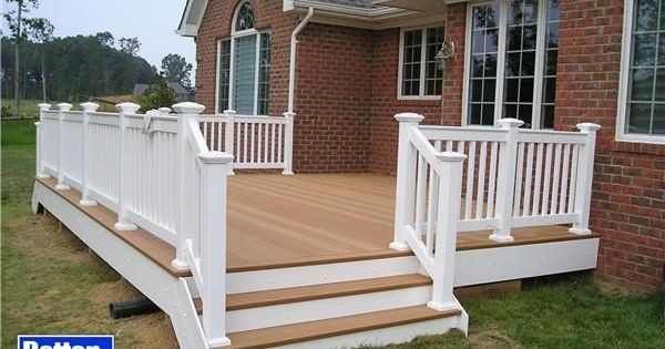 painted deck red brick | wooden deck red brick house - Google Search | Cool Ideas | Pinterest ...