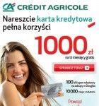 Karta kredytowa pełna korzyści to nowa Promocja w Credit Agricole, w której można otrzymać kredyt w karcie kredytowej bez żadnych kosztów - 1000 zł na 12 miesięcy gratis! Dodatkowo każdy otrzyma kupon rabatowy 100 zł2 do wykorzystania w sieci perfumerii Douglas przy zakupach na kwotę
