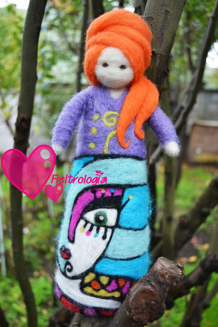 Lady Carrot Needle Felted www.facebook.com/fieltrologia Chile