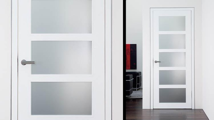5 glass insert custom wood door interior door with painted - Contemporary glass doors interior ...