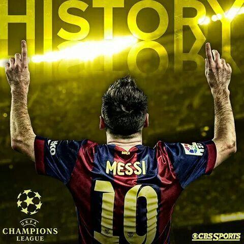 #Messi #History #UEFA