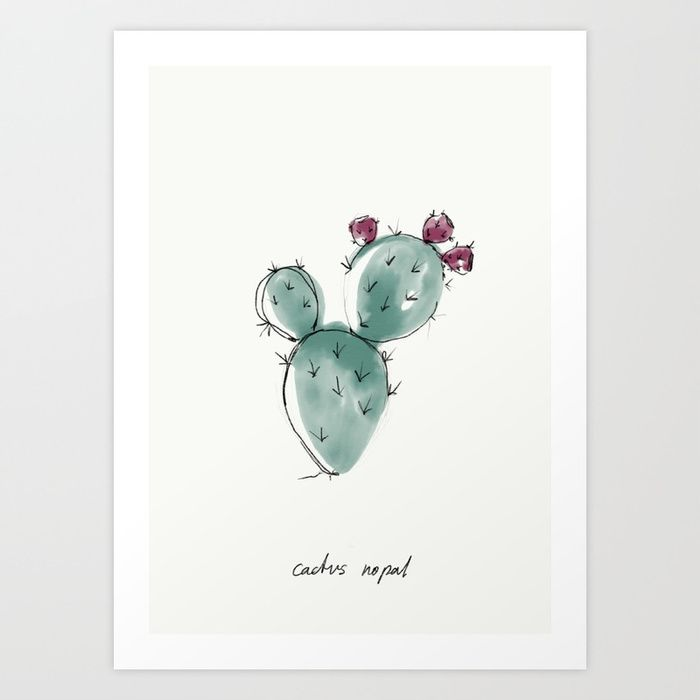 Buy CACTUS NOPAL Art Print by nadinebatista. Worldwide shipping available at Society6.com. Just one of millions of high quality products available.