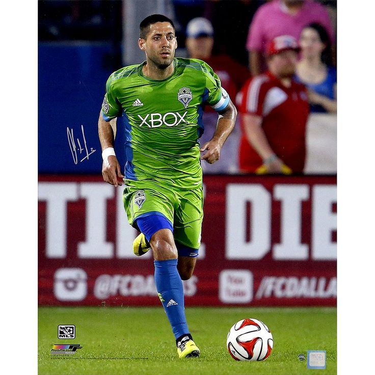 "Steiner Sports Seattle Sounders Clint Dempsey Sprinting Signed 16"" x 20"" Photo, Multicolor"