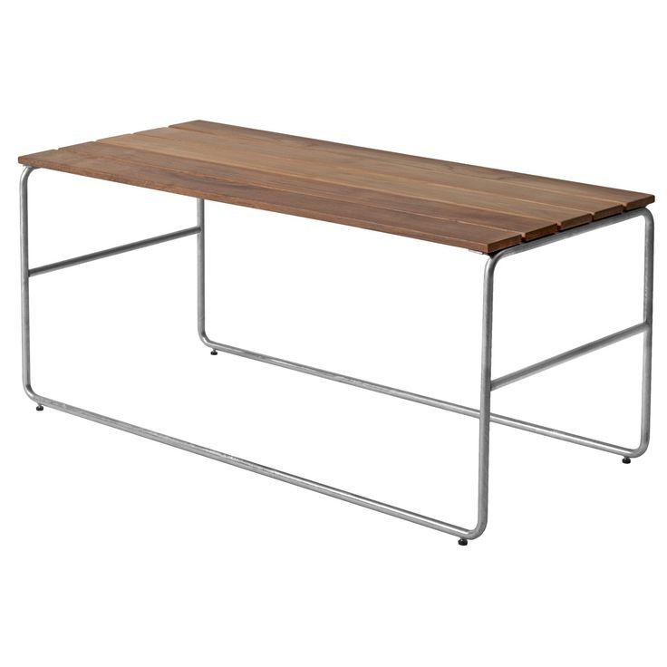 Sofabord L110, teak/varmgalvanisert stativ i gruppen Rom / Utendørs / Utendørsmøbler hos ROOM21.no (131851)