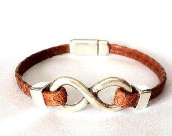 Mens bracelet leather | Etsy