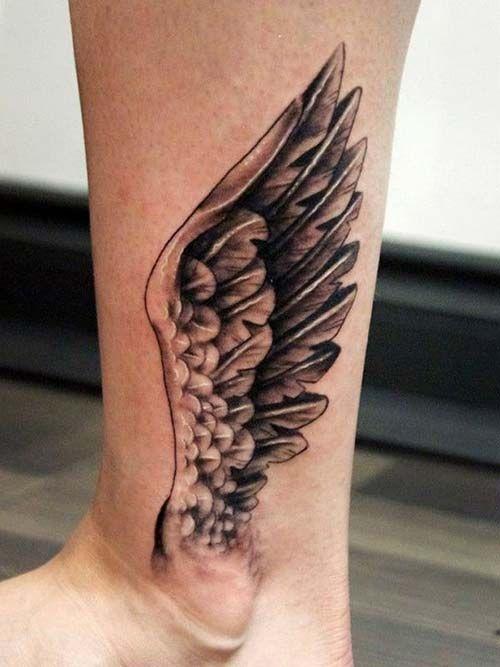 ankle wing tattoo ayak bileği kanat dövmesi
