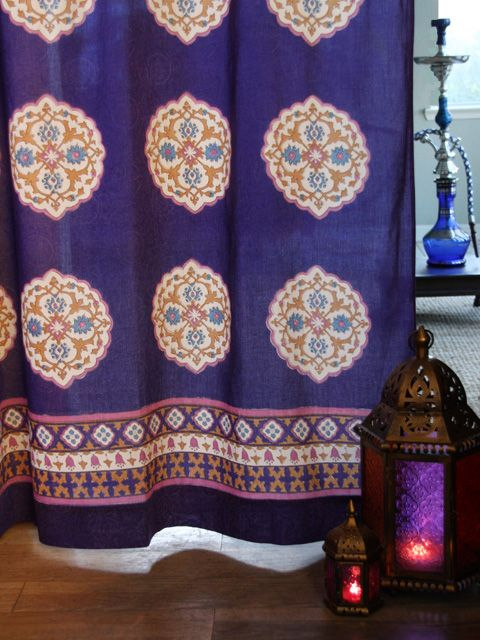 Bohemia Curtains | Exotic Decorative Bohemian Colorful Sheer Tab Top Curtain Panels