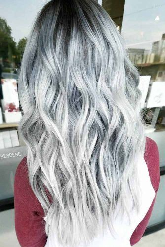 Black To White Grey Ombre Picture3 Mermaid Hair Hair Silver