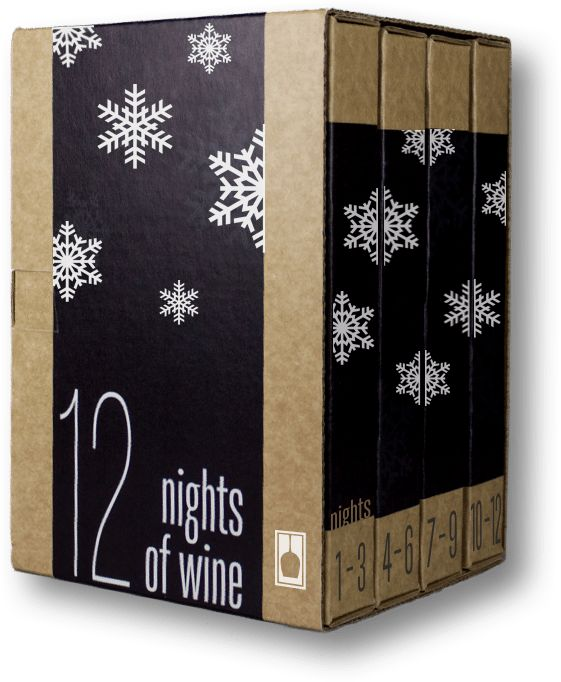 """We already told you about a whiskey advent calendarfrom a company that also sells gin, rum and tequila calendars. But they forgot aboutwine. Fortunately, VineBox has got you covered. This wine-by-the-glass delivery company is putting on a special """"12 Nights of Wine,"""" inspired by the twelve days of Christmas. For"""