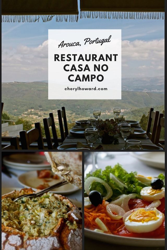 Restaurant Casa No Campo in Arouca, Portugal.