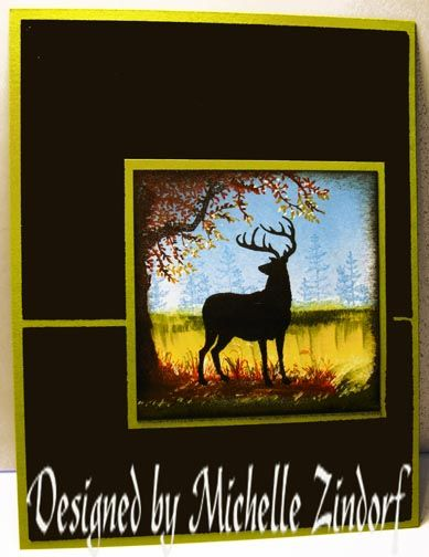 Silhouetted Deer - MZ by Zindorf - Cards and Paper Crafts at Splitcoaststampers
