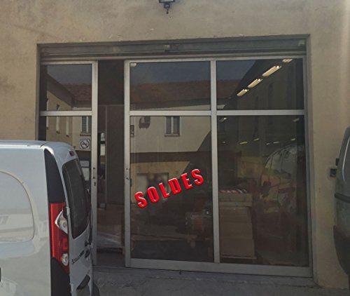 """LETTRES AUTOCOLLANTES ADHÉSIVES «SOLDES»: lettre adhésive autocollante extérieur """"SOLDES"""" pour vitrine magasin ou devanture, décoration…"""